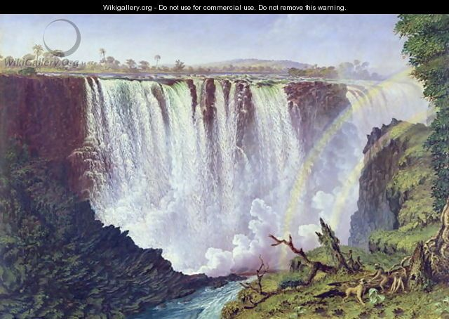 The Great Western Fall, Victoria Falls 1862 - Thomas Baines