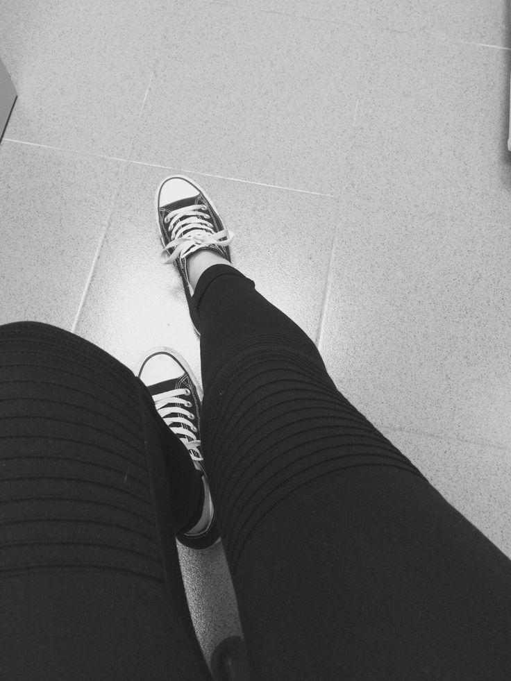 #zapatillas #converse #negras #leggins