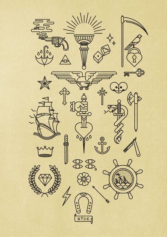 Bildresultat för old school tattoo