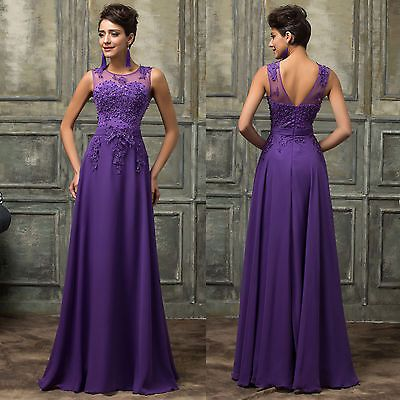 GK Vintage 50's Bridesmaid Party Evening Gown Wedding Long Prom Dresses UK 6-20