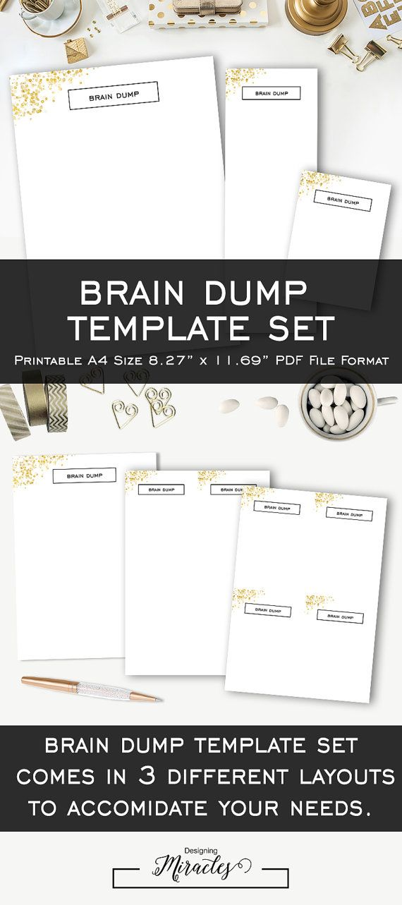 Geeky image with regard to brain dump template