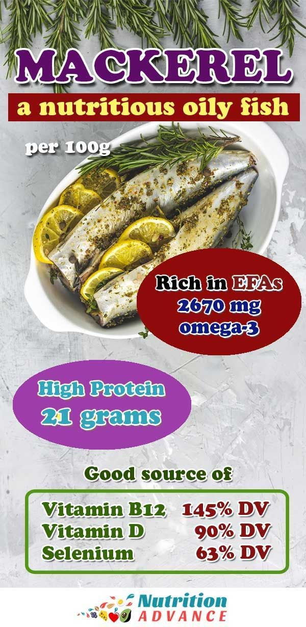 9 Health Benefits Of Mackerel And Full Nutrition Facts Fish Nutrition Facts Nutrition Nutritious