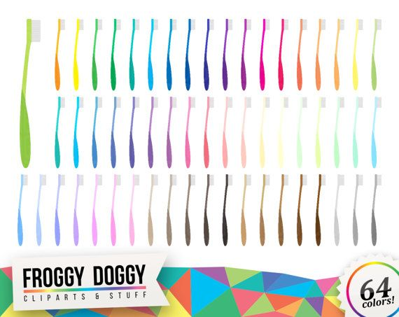 Toothbrush Clipart, Teeth Clipart, Morning Clipart, Bathroom Clipart, Hygiene Clipart, Planner Clipart, Scrapbooking Cliparts