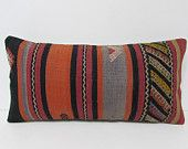kilim pillow moroccan cushion lumbar pillow indie pillow case decorative pillow sofa embroidered pillow cover rustic bedding pillows 26004