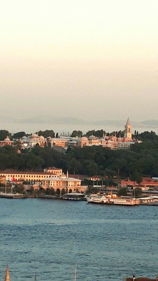 İstanbul Galata Kulesinden Topkapı Sarayına Bakış