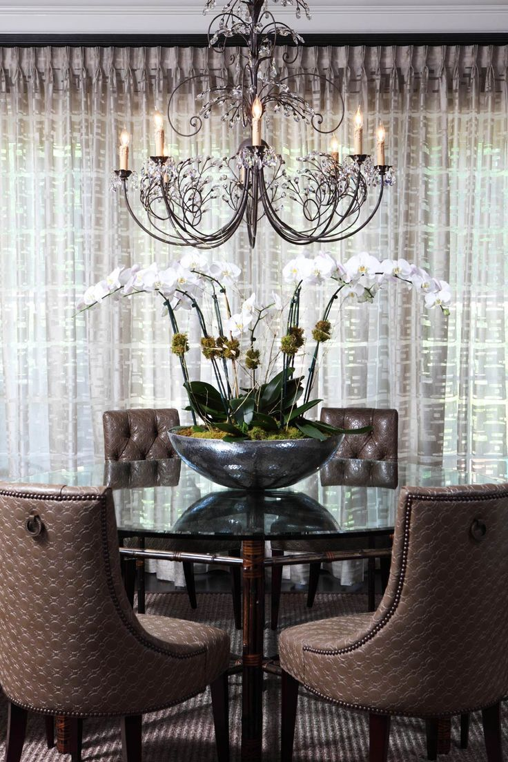Fresh flowers add a splash of colour to this dining space from houzz - 578 Best Living Room Dining Room Images On Pinterest Architecture Living Room Ideas And Dining Room