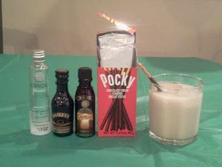 "An insane St. Paddy's Day Drink I created ""Coco Mudslide"" #holiday #drinks #libations #pocky #stpatricksday #irish #ciroc"