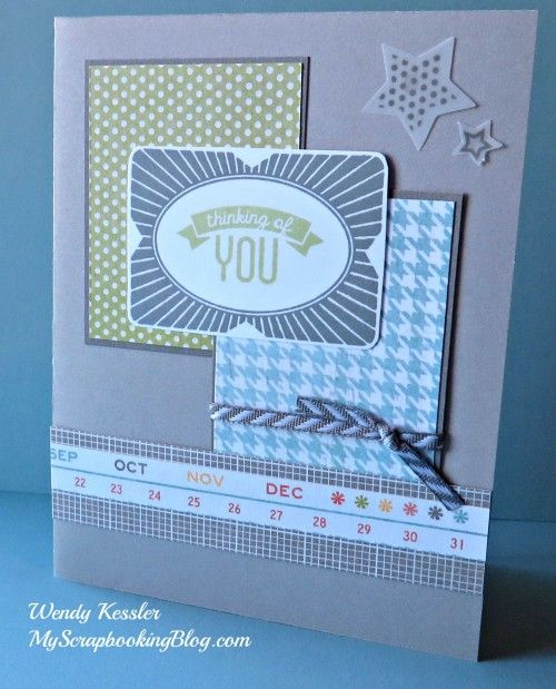 Neutral Thinking of You card by Wendy Kessler