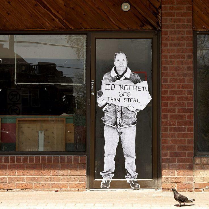 "by Fauxreel - ""The Unaddressed"" addresses homelessness in Toronto -  Found on www.brooklynstreetart.com"