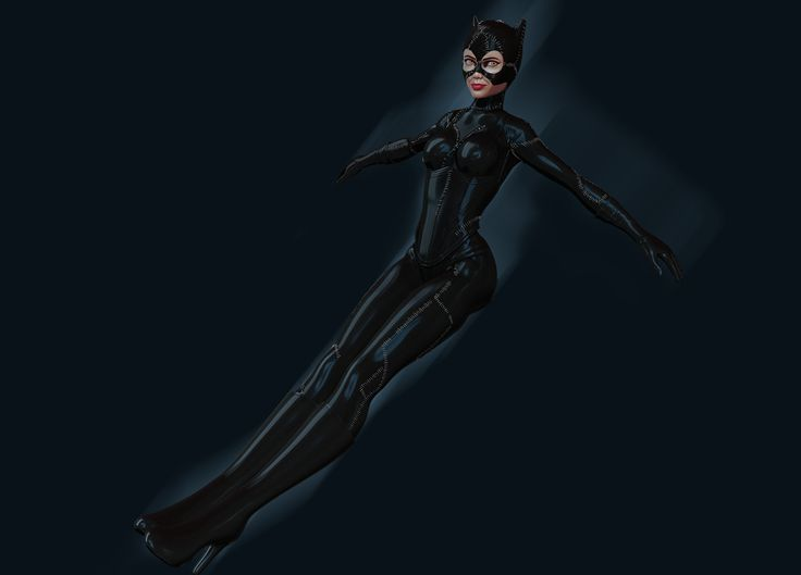 Catwoman in flight by Nalimn on DeviantArt