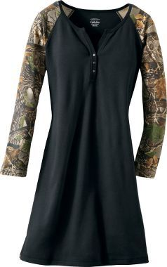 Cabela's Women's Camo Long-Sleeve Sleepshirt I would totaly wear this as a  dress