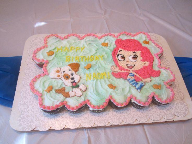 Bubble Guppies cupcake cake.