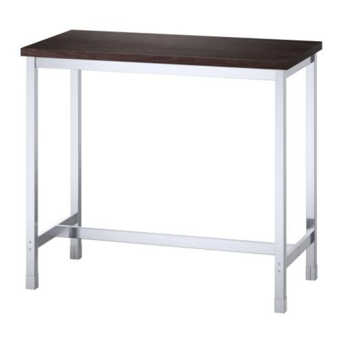 IKEA - UTBY, Bar table, Stainless steel underframe, strong, durable and easy to clean.Stands steady also on uneven floors thanks to the adjustable legs.