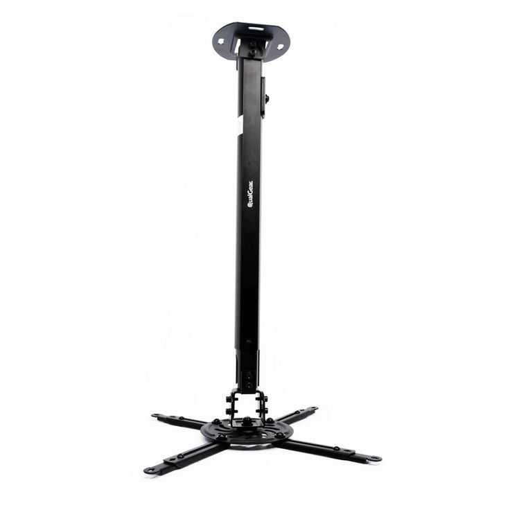 Projector Ceiling Mount with Adjustable Extension Column, Black