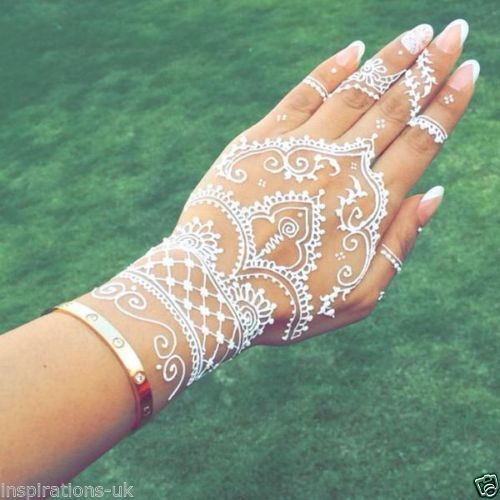29 Best Wedding Body Paint Henna Images On Pinterest: 25+ Best Ideas About White Henna On Pinterest