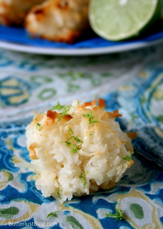 Coconut Lime Macaroons - ButterLust | Holiday Cookie Swap | Pinterest