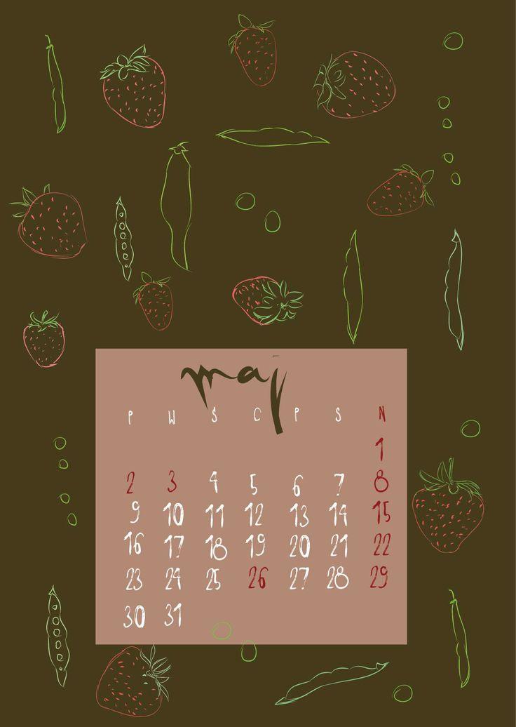 """Przejrzyj mój projekt w @Behance: """"Food calendar""""…"""