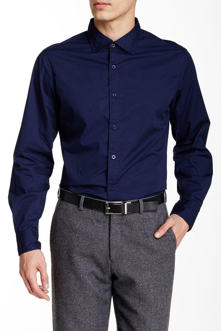Solid Long Sleeve Slim Fit Shirt by Ganesh on @nordstrom_rack