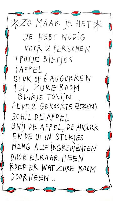 ingthings: We have to eat something, don't we? (recipe written in Dutch)
