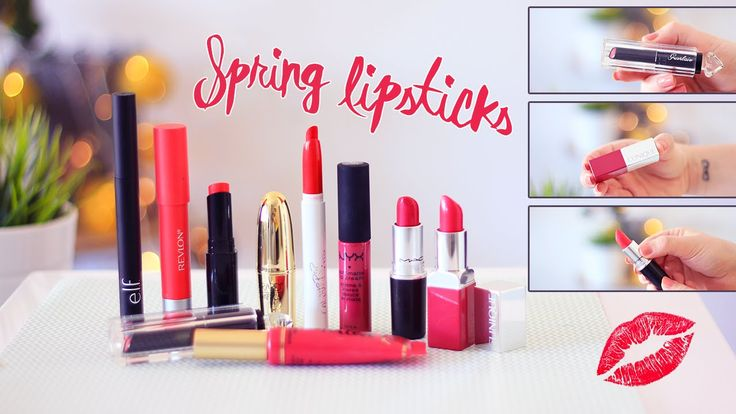 Spring lipstick - Rouges à lèvres printemps • *Berry Beret - Guerlain • Melted Candy - Too Faced • Soft matte lip cream Prague - Nyx Cosmetics • Frenchie - Colour Pop • Full Fuchsia - Mac Cosmetics • *Punch Pop - Clinique • Frisky - L.A Girls • Sans Remords - Revlon • Berry Smoothie - Gérard Cosmetics • *Rowdy Rouge - ELF