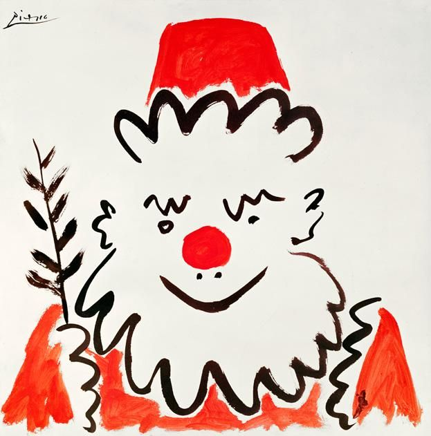 Santa by Picasso, 1959. (The Gallery Collection/Corbis/Smithsonian)