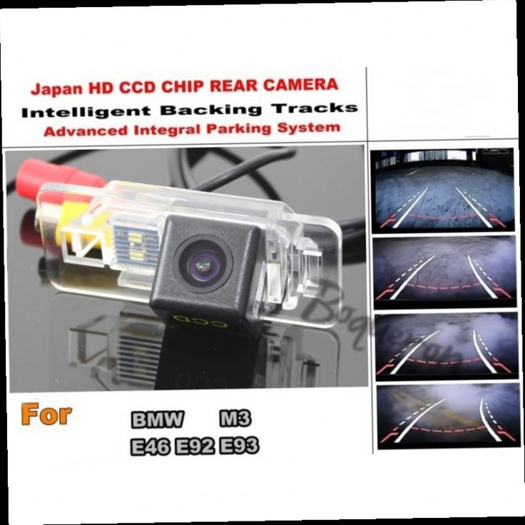 54.20$  Buy now - http://alizfn.worldwells.pw/go.php?t=32412069784 - Car Intelligent Parking Tracks Camera / For BMW M3 E46 E92 E93 HD CCD Back up Reverse Camera / Rear View Camera