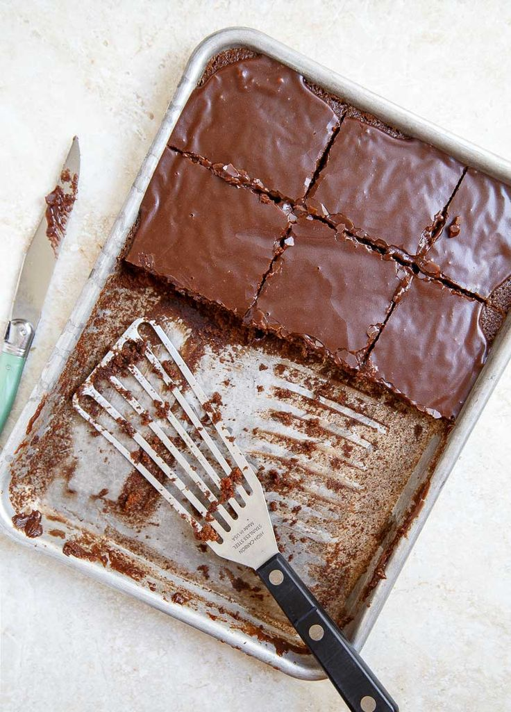 Quarter Sheet Cake, scaled down Texas Chocolate Sheet Cake from Dessert for Two