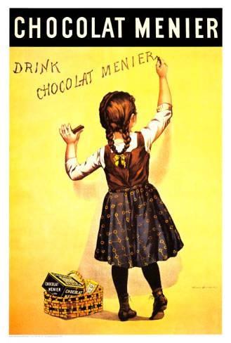 Chocolat Menier | Retro advertising | Vintage poster #Affiches #Retro #Vintage #Ads #Adverts #SXX #deFharo #Publicidad #Posters