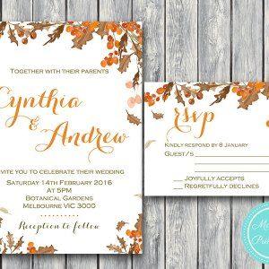 Custom Fall Autumn Wedding Invitation Set-RSVP-Printable #babyshowerideas4u #birthdayparty  #babyshowerdecorations  #bridalshower  #bridalshowerideas #babyshowergames #bridalshowergame  #bridalshowerfavors  #bridalshowercakes  #babyshowerfavors  #babyshowercakes