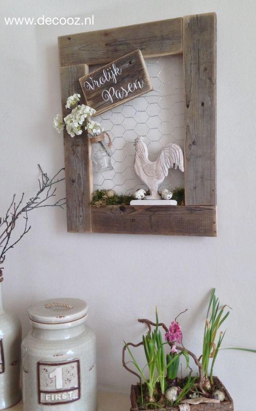 Decoratief paasbord