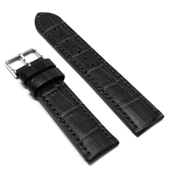 LUX JG29 Black Genuine Calf leather Alligator Grain Flat-matte