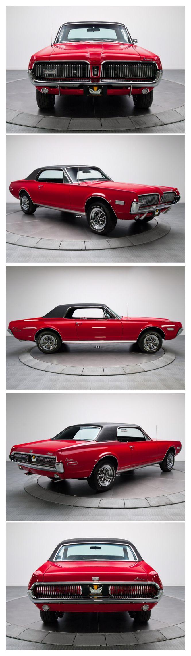 Luxury caravan with full size sports car garage from futuria - 1968 Mercury Cougar
