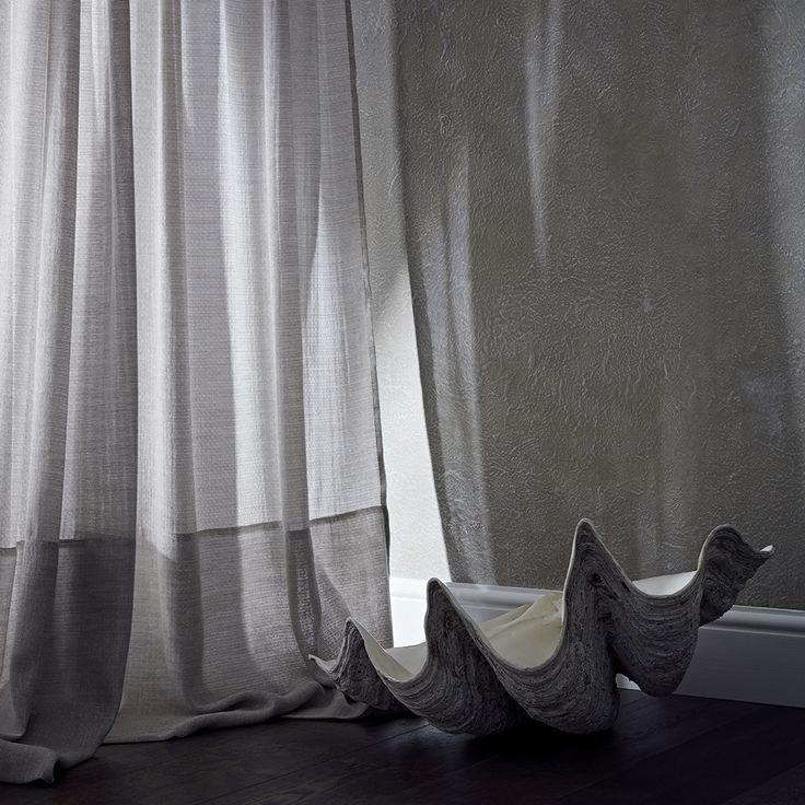 de Le Cuona sheer Linen Wool Raffles Crystal