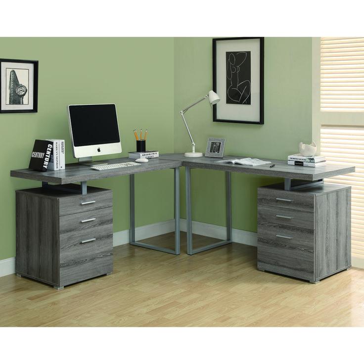 Sauder Transit L Shaped Computer Workstation Desk