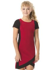 Zone Choc Bicolour Dress made of Stretchy and Textured Jersey for Girls