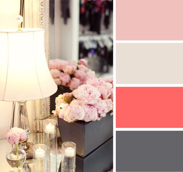 I like these. Not sure the husband would.---Pink and grey-blue color palette.