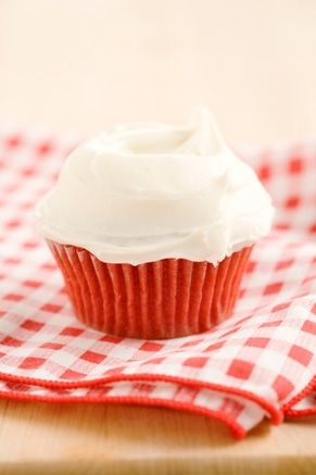Paula Deen's Red Velvet Cupcakes [Note: These are great! However, if you like a strong chocolate flavor in your red velvet, this recipe is not for you. The chocolate is very subtle.]