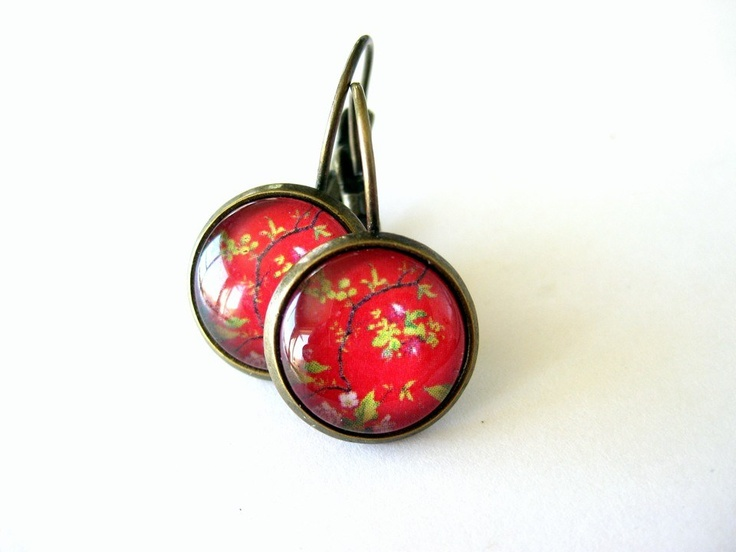Pretty Birds Creations - Imperial Red Earrings