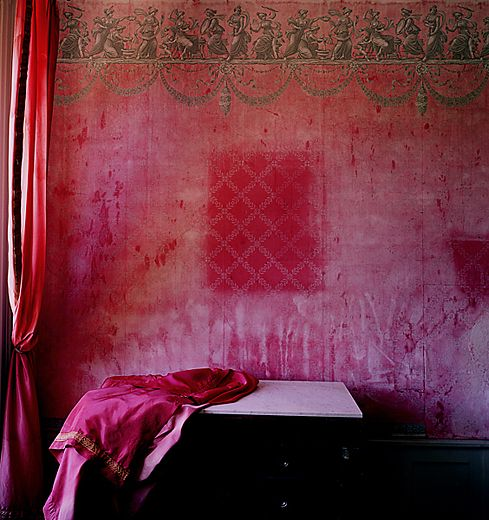 Bruno Suet: Boho Wall, Pink Colors, Pink Rooms, Wall Treatments, Colors Schemes, Pink Wall, Bohemian Decor, Red Rooms, Bruno Suet