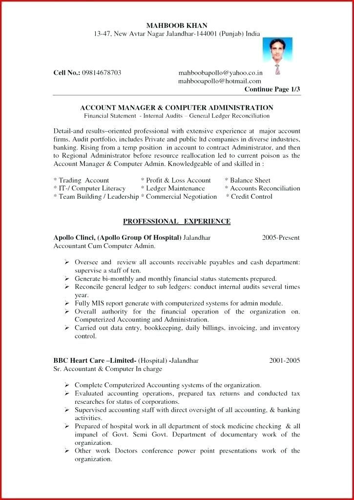 Resume Format Accountant Resume Format Best Free Resume Templates Resume