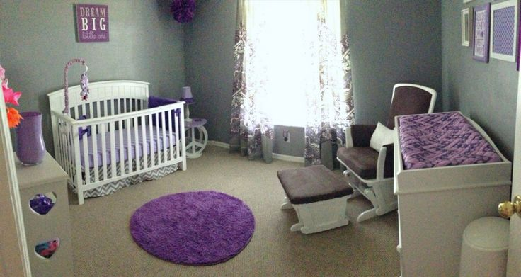 best 25 purple nursery themes ideas on pinterest purple baby rooms baby girl room themes and. Black Bedroom Furniture Sets. Home Design Ideas