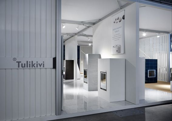 Tulikivi showroom at Habitare Exhibition.