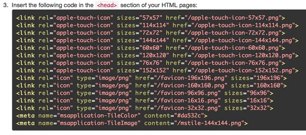 """""""Insert the following code in the <head> section"""""""