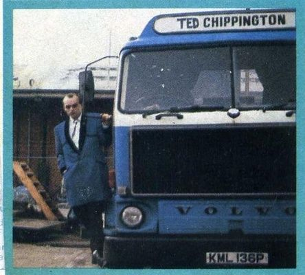 Ted Chippington and truck. I remember cutting this pic out of the Record Mirror and sticking it on a tape!
