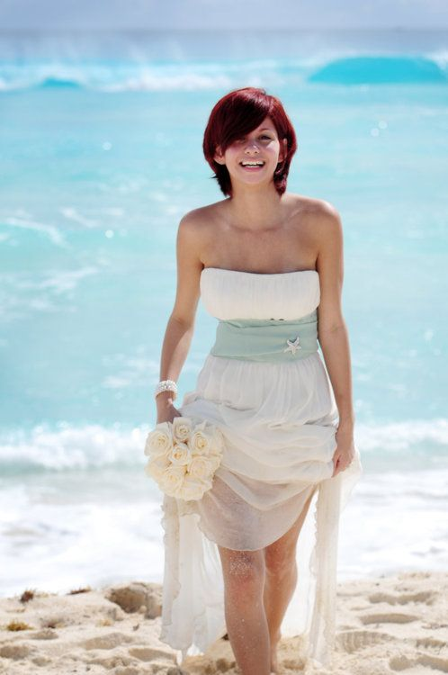 143 best beach wedding inspirations images on pinterest for Ocean themed wedding dress