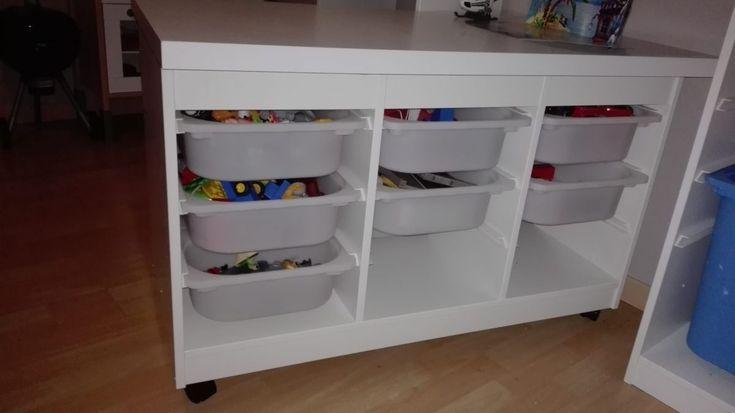 Une table de jeu pour Playmobil #ikea #LINNMONS #playmobil #TROFAST