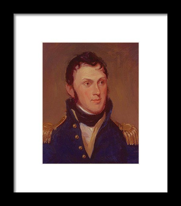 Stephen Framed Print featuring the painting Stephen Harriman Long 1819 by Peale Charles Willson