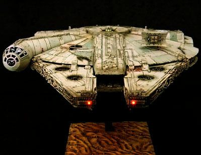 """Chewie, we're home...""バンダイ MILLENNIUM FALCON ミレニアム・ファルコン(フォースの覚醒)【STAR WARS 1/…"