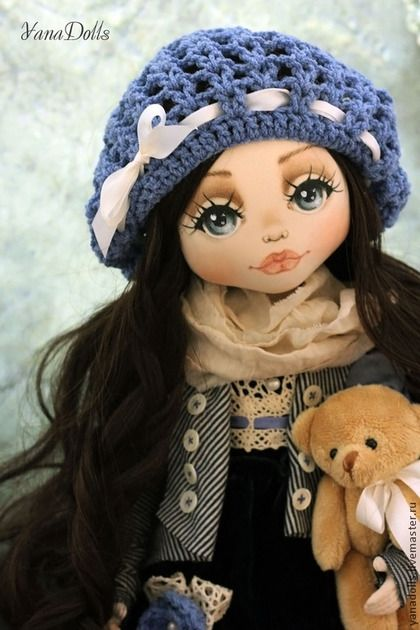 Дэйзи - синий,кукла,кукла ручной работы,кукла интерьерная,кукла текстильная