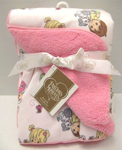 Precious Moments Baby Infant Reversible High Quality Blanket Pink - Baby, Blanket, High, Infant, Moments, Pink, Precious, Quality, Reversible